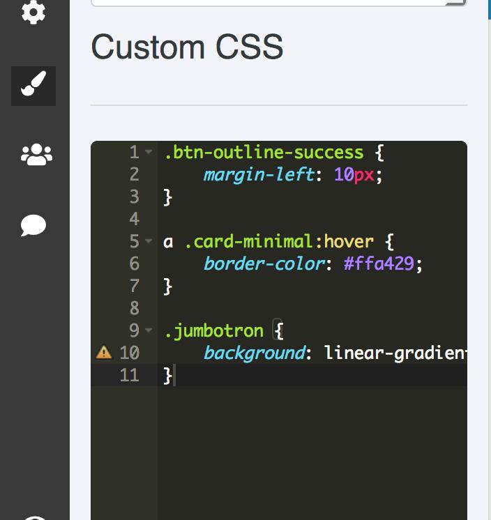 Custom CSS editor